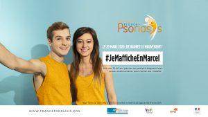 """Visuel de la campagne France Psoriasis """"Je M'affiche en Marcel"""""""