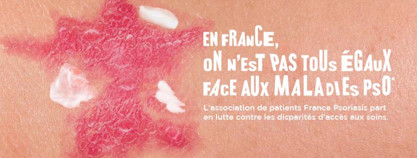 Affiche de la campagne France Psoriasis de lutte contre les disparités d'accès aux soins